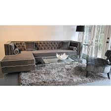 Grey Tufted Sofa75