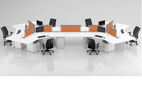 person office desk. #138 \u2013 120 Degree 6 Person Desking Office Desk A