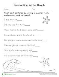 1st Grade Punctuation Worksheets Free Printables Education Com
