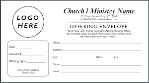 Church Offering Envelopes Templates Free Donation Envelope Template Metabots Co