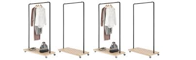 Coat Rack Hardware Amazon Whitmor Slat Wood Garment Rack Freestanding Rolling 78