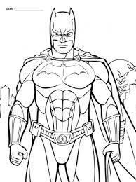 Bat Man Coloring Pages Fantasy Batman 7 Superheroes Printable For 9