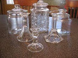 Glass Jars and Candlesticks. These items will make great Apothecary ...