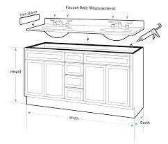 bathroom sink sizes standard pedestal dimensions