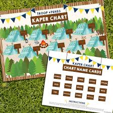 Flag Chart With Names Boy Scout Kaper Chart Boy Scout Kaper Chart Name Cards
