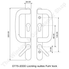 technical diagram for fuhr sparta patio door handle