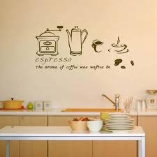 wall art decor for kitchen coffee espresso maker wall vinyl stickers cafe shop kitchen home on wall art kitchen coffee with wall art decor for kitchen coffee espresso maker wall vinyl stickers
