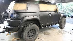 fj cruiser build pt 7 diy truck bed liner paint job