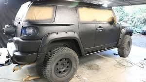 fj cruiser build pt 7 diy truck bed liner paint job