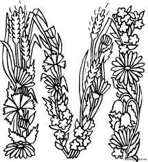 Alfabet Bloemen Kleurplaat 124708 Kleurplaat