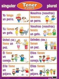 Spanish Tener Chart 117 Best Spanish Class Verbos All Things Conjugation