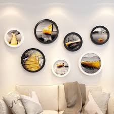 black multi picture frames wall