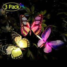 Solar Butterfly Wall Light Qualife Solar Butterfly Stake Lights Outdoor 2019 Solar Powered Decorative Light For Garden Decorations Yard Art Housewarming Gifts Led Color