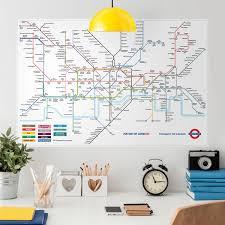 poster sticker london underground map