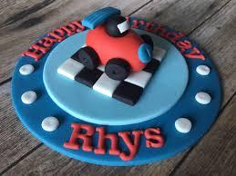 Edible Fondant 3d Car Racing Plaque Boys Birthday Party Cake Etsy