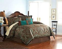 turquoise and brown bedding sets 4 full teal brown turquoise blue jacquard paisley a avengers bedding set