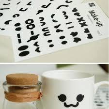 diy office gifts. Kawaii 10 Sheets Cute Expression Decoration Tape DIY Scrapbooking Masking  PVC School Office Gifts Lovely Diy Office Gifts