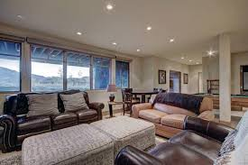 the lounge or bar area at luxury breckenridge vacation home
