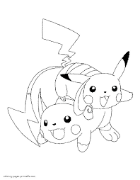 coloring coloring picture color pages cute pictures pikachu colouring to print
