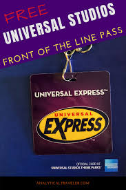 how to get front of the line p for free at universal studios hollywood family travel trip planning travel hacking american express universal studios