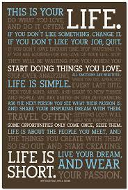 This Is Your Life Quote Extraordinary This Is Your Life Motivational Quote Education Art Silk Poster