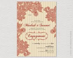Indian Engagement Invitation Cards Indian Engagement Invitation