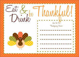 Cool Invitation Templates For Thanksgiving Gallery Mericahotel