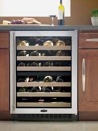 Built In Wine Racks Kitchen Refrigerator With Built In Wine Cooler 6 Glide Out Wine Racks 72