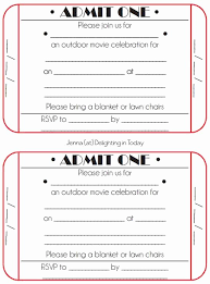 Editable Movie Ticket Template Free Lovely Movie Night Party