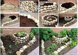 how to make a spiral herb garden diy