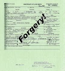Fake Baptismal Certificate Happy 5th Birthday For Obamas Fake Birth Certificate Cdr