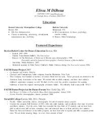 Resume For College Application Unique Dance Resume For College Dance Resume Template Audition Download