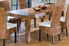 brown rattan square wooden wicker dining