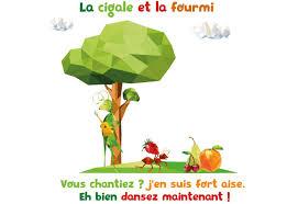 Sticker Stickers La Cigale Et La Fourmi Stickers Petits Et Moyens