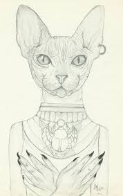 Bastet Drawing At Paintingvalleycom Explore Collection Of Bastet