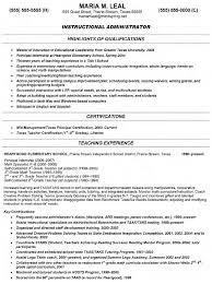 Elementary School Principal Resume Examples Principal Resume Samples Free Resumes Tips 17