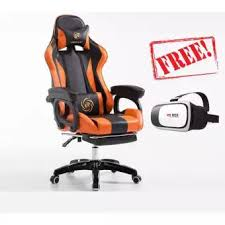 office orange. LB Racing Style Adjustable Gaming Chair Executive Office RED BLUE ORANGE Come With Footrest Legrest Orange