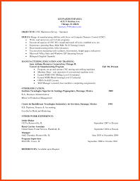 Machinist Resume Program Format