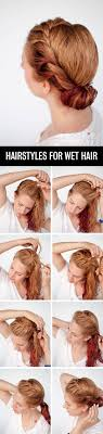 Hairstyle Easy Step By Step get ready fast with 7 easy hairstyle tutorials for wet hair hair 6480 by stevesalt.us