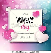 Women Day Sale 8 March Holiday Shopping Special Offer Flyer Banner Discount Poster Background