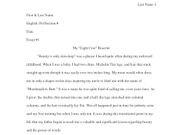how to format  write your narrative essay