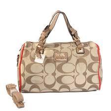 Coach In Signature Medium Khaki Luggage Bags AYF