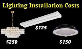 lighting installation costs estimate