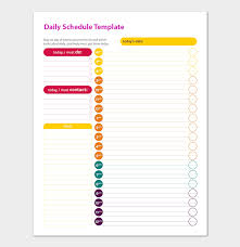 Daily Routine Maker Daily Schedule Template 22 Planners For Excel Word