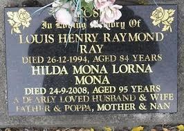 Gisborne District Council - Cemetery Database - Hilda Mona Lorna Crosby