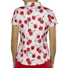 New Jofit Cherry Zip Polo Shirt Womens Golf Top Pink Red M Medium Nwt Ebay