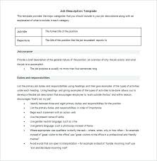 Job Description Template Resume Carpenter Objective Download ...