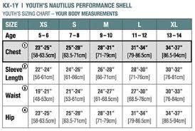 Stormtech Size Chart Gmb Stormtech Youth Nautilus Performance Shell Azure Blue