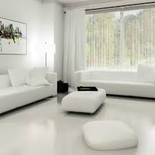 white tile flooring living room. Magnificent Living Room With White Color Combine Furniture Modern  Fabric Toxedo Sofa Cushion And Tile Flooring