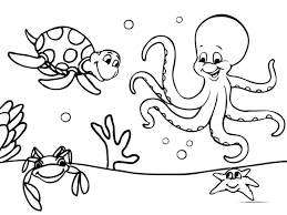 Download Amazing Printable Ocean Coloring Pages